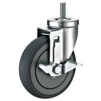 Quality Side Brake Threaded Stem Casters , Steel Housing 3 Inch Caster Wheels for sale