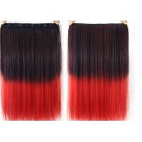 Quality High Temperature Fiber Red Synthetic Hair Extension 8 Inch - 40 Inch for sale