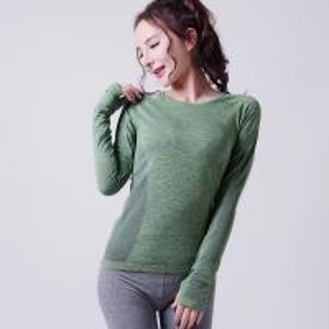 Quality OEM women seamless Gym T-Shirt, custom Sports Shirt for lady XLLS006 for sale