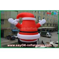 Quality Big Lovely Outdoor Inflatable Santa Claus for Christmas Decoration for sale