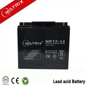 Quality Matrix 12V 17AH sealed lead acid battery for sale