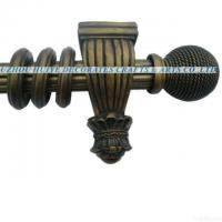 China 2011 Hot Selling Design Reeded Curtain Pole With Resin Finials for sale