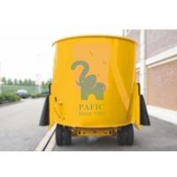 Quality Yellow Color Movable Upright Animal Feed Mixer Equipment For Rangeland for sale