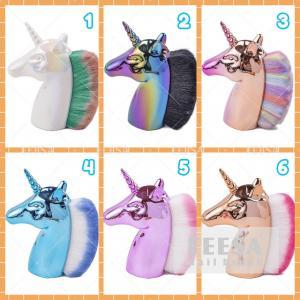 Quality Beautiful Elegant Nail Dusting Brush Unicorn Shape Multicolor Hair for sale