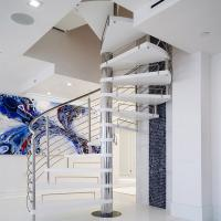 Quality Stainless Steel Spiarl Staircase Custom Delicate Spiarl Staircase Design Internal Safe Spiral Staircase for sale