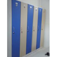 Quality 1 Tier Bule Employee Storage Lockers PVC Material With Master Combination Padlock for sale