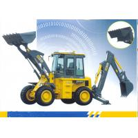 Quality 65kw Engine Loading Bucket 1.0 CBM Tractor Loader Backhoe With 9500 Kg Operating Weight for sale