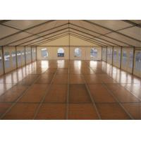Quality Wind Resistant 10MX30M Custom Event Marquee Tent With VIP Wooden Floor for sale