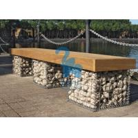 Quality ISO Steel Gabion Baskets , Stone Gabion Chair For Garden And Park for sale