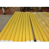 Quality Low Elongation Monofilament Polyester Screen Printing Mesh With White And Yellow for sale