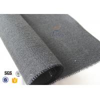 Quality 600g Thermal Insulation Materials Black Vermiculite Coated Fiberglass Fabric for sale