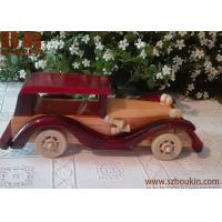 China hot selling eco-friendly handmade wooden toy car for kids on sale