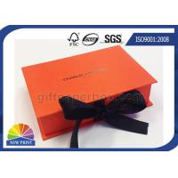 Book Shape Hinged Lid Rigid Paper Box Ribbon Closure for Luxury Gift Packaging