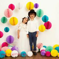 China Party Wedding Decoration Paper Craft Tissue Paper Honeycomb Balls Pom Pom Flower Ball on sale