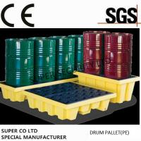 Quality Polyethylene Drum Containment Pallets For Chemical , Acids Amd Corrosives Liquid Distributed Load 1100kg for sale