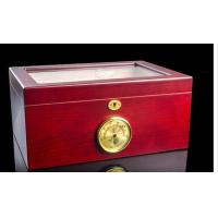 China Customized Luxury Cigar Gift Box Cases / Groomsmen Antique Cigar Humidor on sale