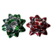 China Decoration Star Gift Wrap Bows Iridescent Metallic And Holographic Material on sale