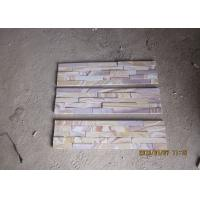 Quality Pink Artificial Sandstone Cladding , Exterior Cultured Stone Veneer Panels for sale