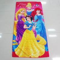 Quality Colorful Solid Print Microfiber Beach Towels , Kids Bath Towels Overlock Edge for sale