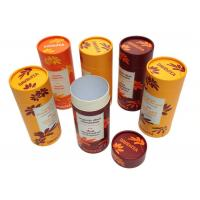 Buy Brown Tube Type Round Cardboard Hat Boxes , Round Packaging Boxes Recoverable at wholesale prices
