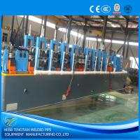 Quality PLC Control HF ERW Steel Pipe Mill Machine Cold Saw With 120m / Min Speed for sale