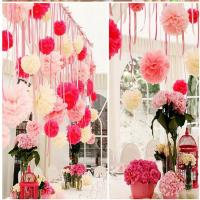China paper pom pom/Paper Flower for party Decorate on sale