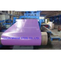 Buy Dip-Cold PPGI Coil For Construction , Color Coated Prepainted Galvanized Steel at wholesale prices