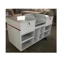 Quality 1.5M Length Lightweight Retail Checkout Counter With Artificial Stone Simple Style for sale