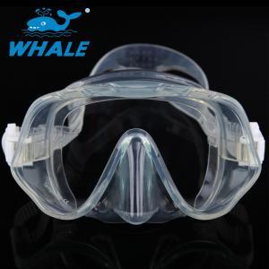 Adult Frameless Dive Mask , Professional Single Lens Dive Mask Silicone Strap