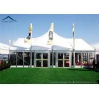 Quality Width 10m Elegant Mixed Glass Wall Canopy Tent Structures For Outside Events for sale