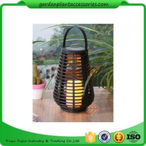 Quality Exterior Rattan Solar Lights , Solar Powered Yard Lights With 2V / 40MA Solar Panel for sale