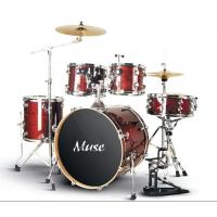 Quality Acoustic Complete 5 Piece Full Size Drum Set Without Cymbal / Throne for sale