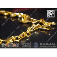 Quality Golden Color Aluminum Fly Mesh Chain Curtain With High Quality for sale