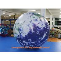 Buy cheap Oxford / PVC Material Giant Inflatable Earth Globe 2m Diameter For Advertising from wholesalers