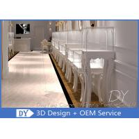 Buy cheap European Style Fully White Jewelry Store Showcase / Jewellery Display Cabinet from wholesalers