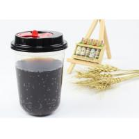 China Party Design Juice Tea Coffee PP Plastic Cup , Clear Plastic Cups With Lids on sale