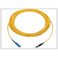 Buy G652D Simplex Patch Cord Customized Length Yellow Multimode Fibre Patch Leads at wholesale prices