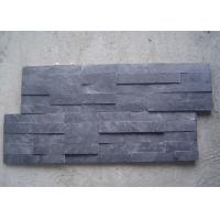 Quality Black Natural Slate Artificial Culture Stone Bathroom Wall Cladding Tile 600x150mm for sale
