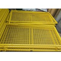 Quality Durable Powder Coated Steel Wire Fencing Panels With Frame Finishing for sale