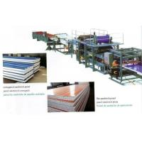Quality Insulated EPS Sandwich Panel Production Line with Decoiler / Laminating Device for sale