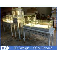 Buy Nice Modern Glass Wooden In Gray Jewellery Counter Design With Led Light at wholesale prices
