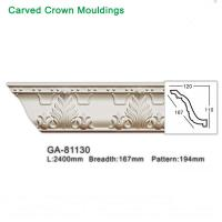 Buy cheap 2017 new style polyurethane foam architectural lightweight crown moulding pop from wholesalers