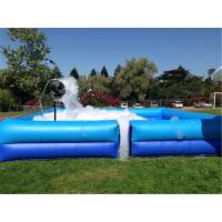 Quality Square Portable Water Pool  , Outdoor Fun Party Dance Game Inflatable Soap Foam Pit Pool for sale