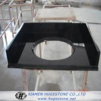 Quality Shanxi Black High Polished Granite Sink Countertops for Bathroom for sale