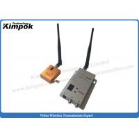 Quality 10km LOS FPV long range wireless transmitter Lightweight 1200Mhz Image Transmitter Zero Latency for sale