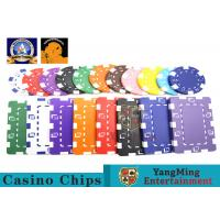 Quality Oversized Rectangular Printable Plastic Ept Poker Chips 11.5g - 32g 3.3mm Thickness for sale