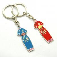 Quality Metal Custom Shaped Keychains Solid Material Any Size Die Casting Process for sale
