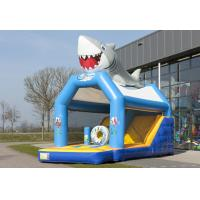 China Seaworld Combo Jumper Rentals Inflatables Bounce House Blue 0.55mm PVC on sale
