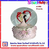 Quality resin wedding snow globes for sale