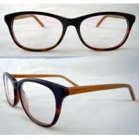 Quality Black And Yellow Hand Made Acetate Optical Frames With Demo Lens for sale